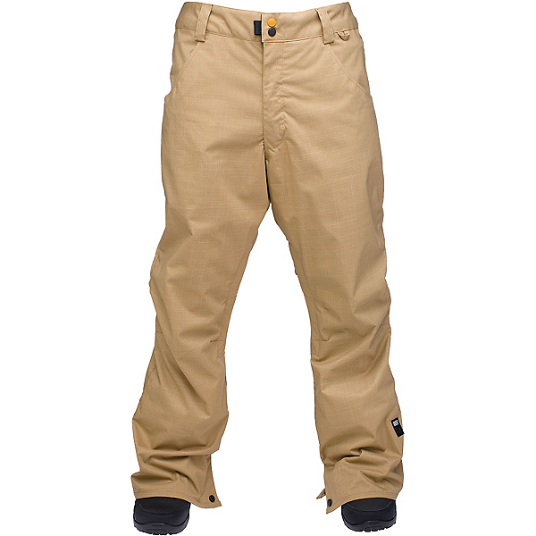 Ride Madrona Mens Snowboard Pants, Dark Khaki Herringbone, 600