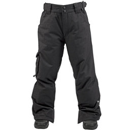 Ride Charger Kids Snowboard Pants, Black Twill, 256