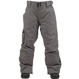 Ride Charger Kids Snowboard Pants, Gray Storm Twill, 256