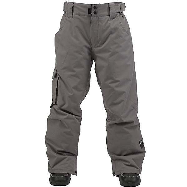 Ride Charger Kids Snowboard Pants, Gray Storm Twill, 600