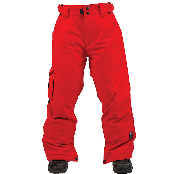 Ride Charger Kids Snowboard Pants, Red Rover Twill, 600