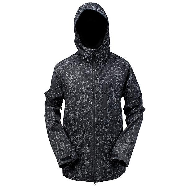 Ride Gatewood Mens Insulated Snowboard Jacket, Smoke Print Twill, 600