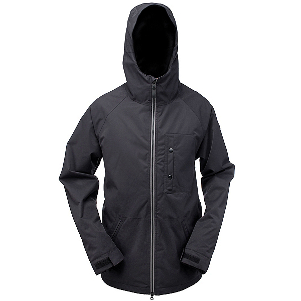 Ride Gatewood Mens Insulated Snowboard Jacket, Black Twill, 600