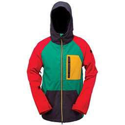 Ride Gatewood Mens Insulated Snowboard Jacket, Rasta, 256