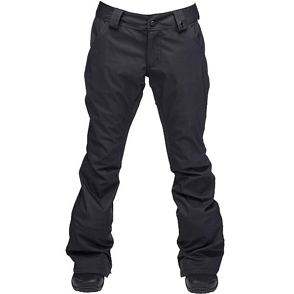 Ride Aurora Womens Snowboard Pants, Black Stretch Twill, 600