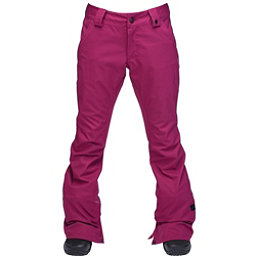 Ride Aurora Womens Snowboard Pants, Raspberry Stretch Twill, 256