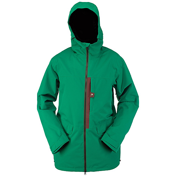 Ride Georgetown Mens Insulated Snowboard Jacket, Kelly Green Twill, 600