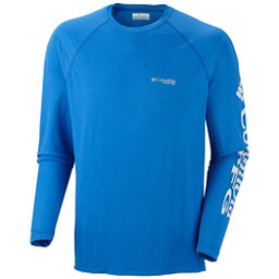 Columbia PFG Terminal Tackle Long Sleeve Mens Shirt, Vivid Blue-Cool Grey, 256