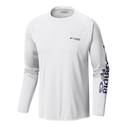 Columbia PFG Terminal Tackle Long Sleeve Mens Shirt, White-Nightshade, 256