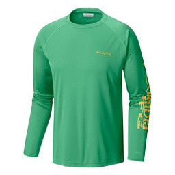 Columbia PFG Terminal Tackle Long Sleeve Mens Shirt, Emerald City-Sunlit, 256