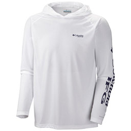 Columbia PFG Terminal Tackle Mens Hoodie, White-Nightshade, 256