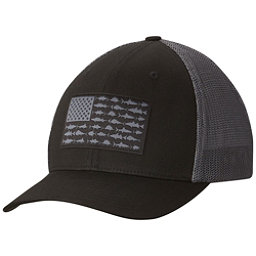 Columbia PFG Mesh Hat, Black-Fish Flag, 256