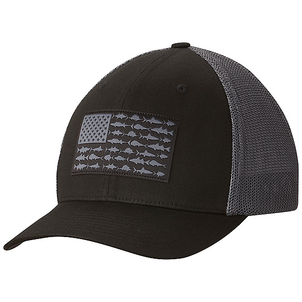 Columbia PFG Mesh Hat, Black-Fish Flag, 600