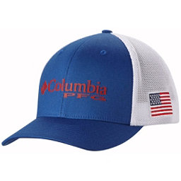 Columbia PFG Mesh Hat, Mountain Blue-Usa Flag, 256