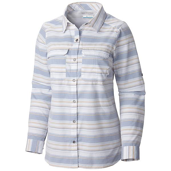 Columbia Pilsner Peak Stripe Long Sleeve Womens Shirt, Bluebell Stripe, 600