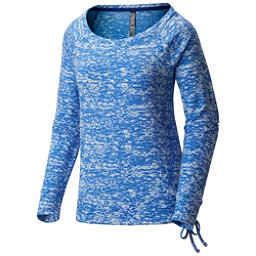 Mountain Hardwear Burned Out L/S Pullover Womens Shirt, Heather Bright Island Blue, 256
