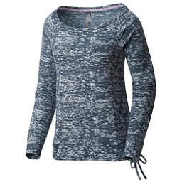 Mountain Hardwear Burned Out L/S Pullover Womens Shirt, Heather Zinc, 256