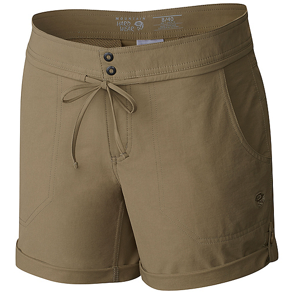 Mountain Hardwear New Yuma 7 Inch Womens Shorts, Khaki, 600