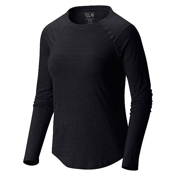 Mountain Hardwear Mighty Stripe Long Sleeve Womens Shirt, Black, 600