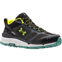 Under Armour Verge Low GTX Mens Shoes, Black-Stealth Gray-Velocity, 256