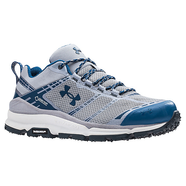 Under Armour Verge Low GTX Mens Shoes, Steel-Deep Sea-Deep Sea, 600