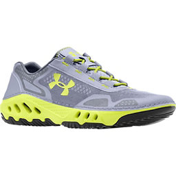Under Armour Drainster Mens Watershoes, Steel-Graphite-Velocity, 256