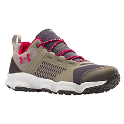 Under Armour Speedfit Hike Low Womens Shoes, Charcoal-Stoneleigh Taupe-Fury, 256