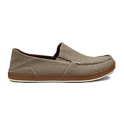 OluKai Puhalu Canvas Mens Shoes, Clay-Toffee, 256