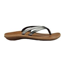 OluKai U'i Womens Flip Flops, Pewter-Sahara, 256