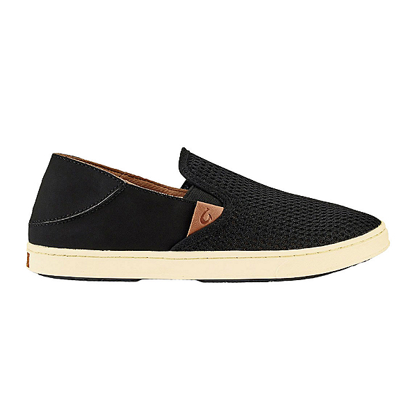 OluKai Pehuea Womens Shoes, Black-Black, 600