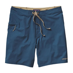 Patagonia Solid Stretch Planing 18in Mens Board Shorts, Glass Blue, 256