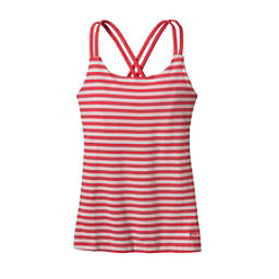 Patagonia Cross Back Womens Tank-Top, Vista Stripe Shock Pink, 256
