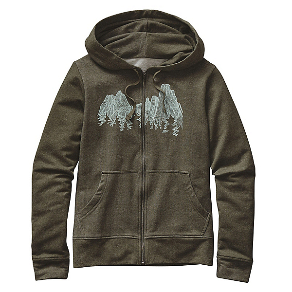 Patagonia Up Here Midweight Full-Zip Womens Hoodie, Kelp Forest, 600
