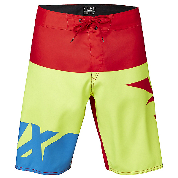 Fox Shiv Mens Board Shorts, Flo Yellow, 600
