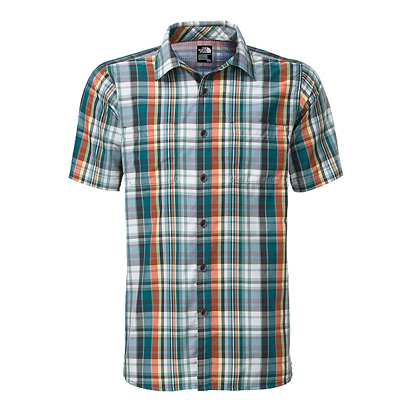 The North Face Men's S/S Solar Plaid Mens Shirt (Previous Season), Blue Coral-Asphalt Grey Plaid, 600