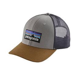 Patagonia P-6 Trucker Hat, Drifter Grey-Coriander, 256