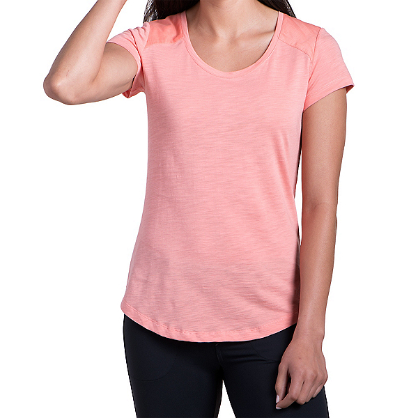 KUHL Khloe Short Sleeve Womens Shirt, Peach, 600