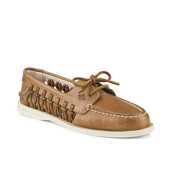 Sperry A/O Haven Leather Womens Shoes, Sahara, 600