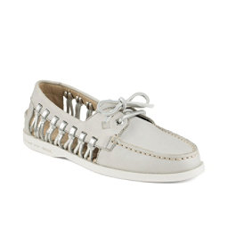 Sperry A/O Haven Leather Womens Shoes, Light Grey, 256