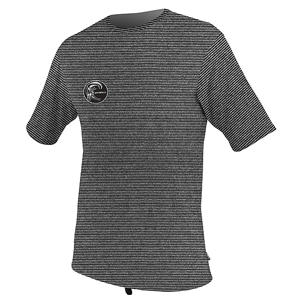 O'Neill Hybrid Short Sleeve Surf Mens Rash Guard, Black, 600
