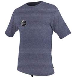 O'Neill Hybrid Short Sleeve Surf Mens Rash Guard, Deep Sea, 256