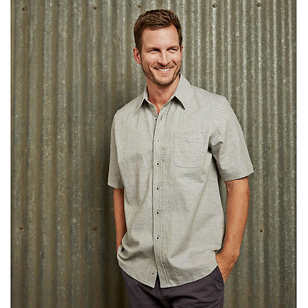 Purnell Short Sleeve Linen Mens Shirt, , 600