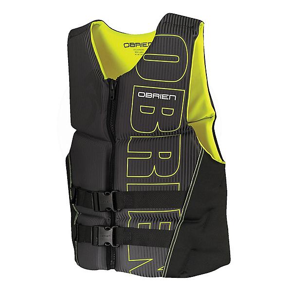 O'Brien Flex V-Back Neoprene Adult Life Vest 2020, Yellow-Ash, 600