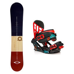 2B1 Classical Blue Stealth Kids Snowboard and Binding Package, , 256