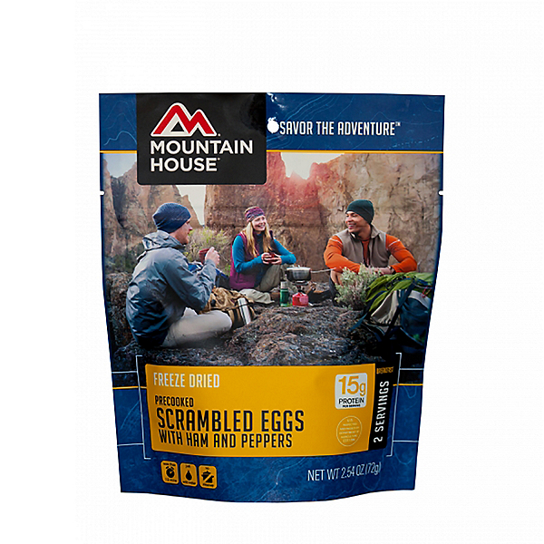 Mountain House Scrambled Eggs with Ham and Peppers, , 600