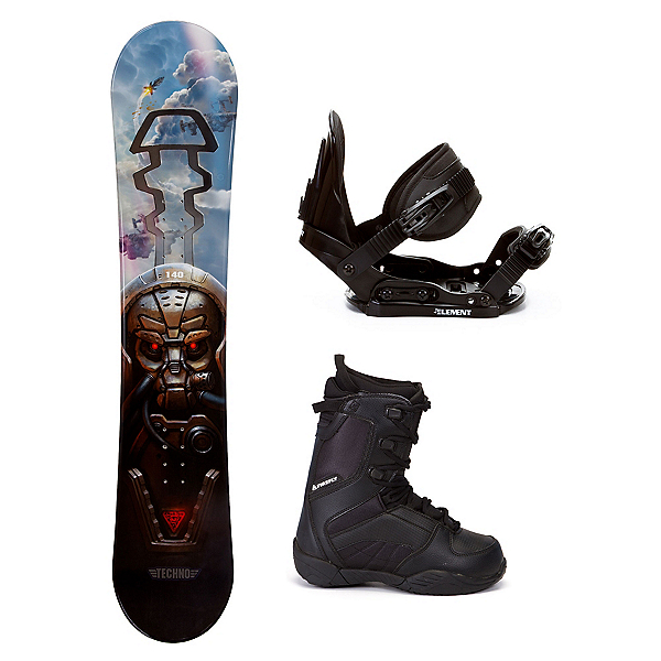 Black Fire Techno Plus C20 Kids Complete Snowboard Package, , 600