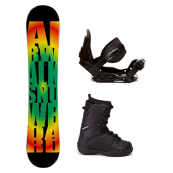 Airwalk Rasta C20 Kids Complete Snowboard Package, , 600