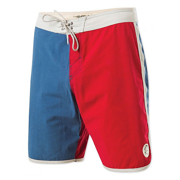 O'Neill Retrofreak Scallop Mens Board Shorts, Blue, 600