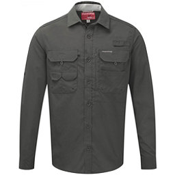 Craghoppers NosiLife Long Sleeved Angler Mens Shirt, Dark Khaki, 256