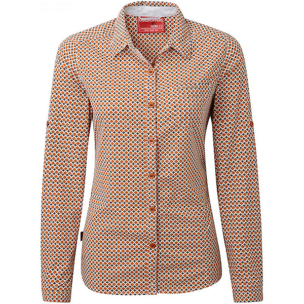 Craghoppers NosiLife Olive Long Sleeved Womens Shirt, , 600